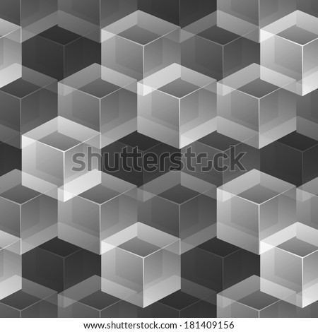 Abstract cubic seamless background, vector illustration, eps10 - stock vector