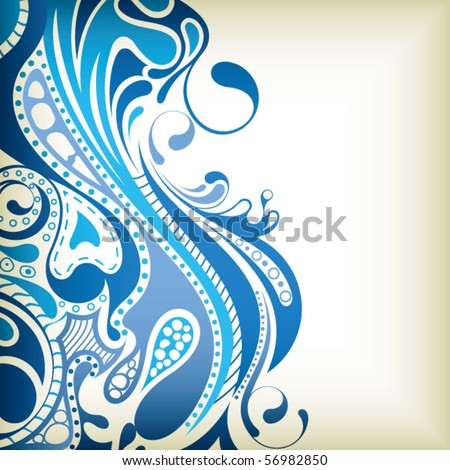 Abstract Curve Background 7 - stock vector