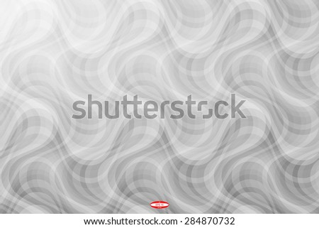 abstract curve black white pattern with smoke on grey background. vector illustration