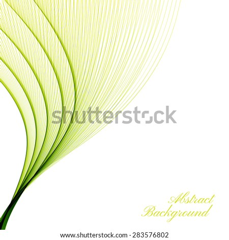 Abstract curved lines on bright background. Vector illustration. - stock vector