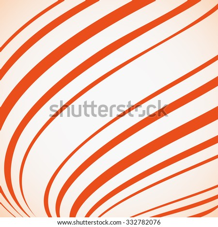 Abstract curved orange lines backdrop.  Vector background - stock vector