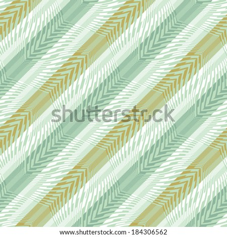 Abstract curved striped textured ornament with a diagonal direction. Seamless pattern. Vector.