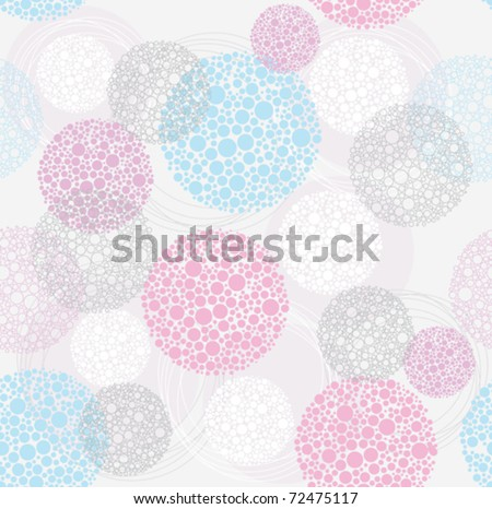 Abstract cute seamless polka dot circle background pattern. - stock vector