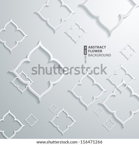 Abstract 3D Abstract Flower Design - stock vector