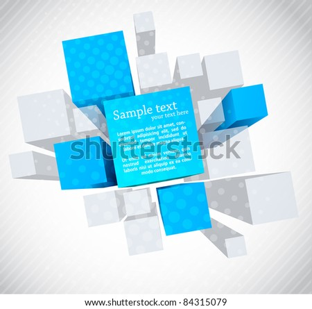 Abstract 3d background - stock vector
