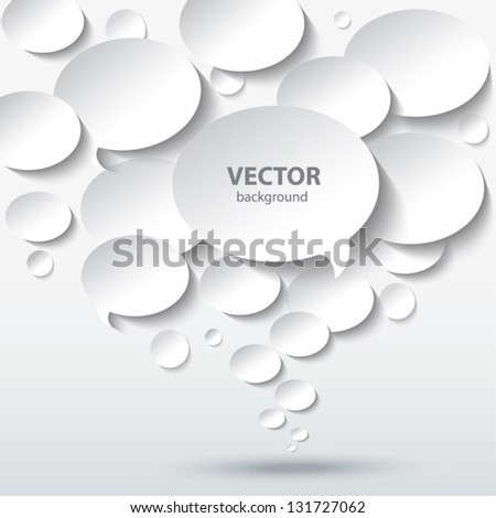 Abstract 3D background with bubble speech.
