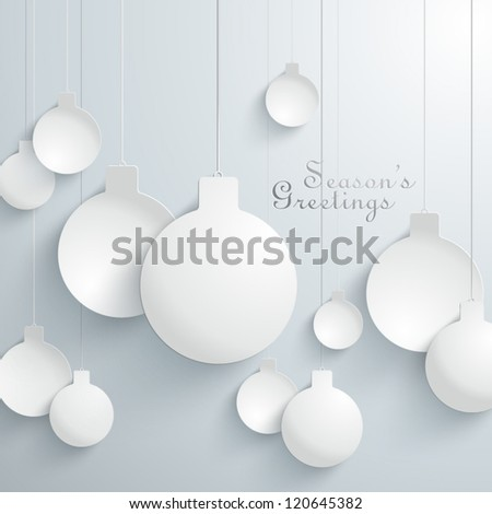 Abstract 3D Baubles Design - stock vector