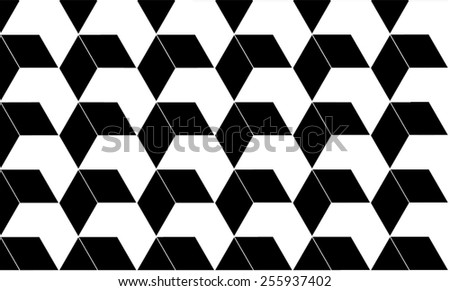 Abstract 3D black and white background, pattern, texture - stock vector