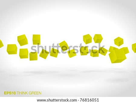 abstract 3d design - vector illustration - stock vector