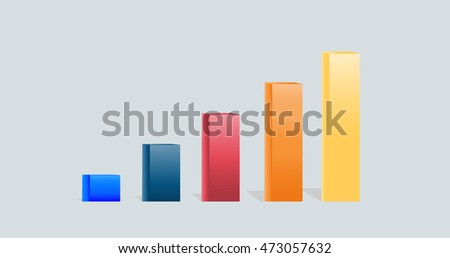 Abstract 3D digital illustration graph. Vector illustration can be used for workflow layout, diagram, number options, web design.