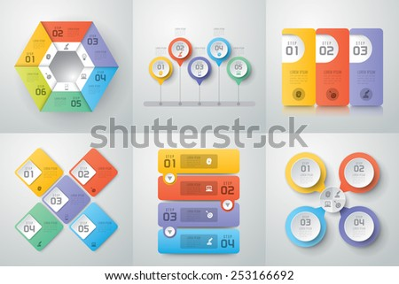 Abstract 3D digital illustration Infographic. Vector illustration can be used for workflow layout, diagram, number options, web design. Business concept with 3, 4 options, Abstract background. - stock vector
