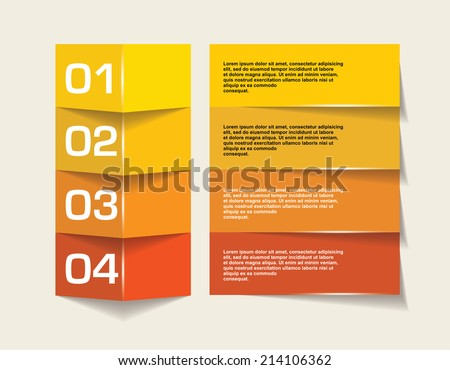 Abstract 3d frames. web design, infographics. - stock vector