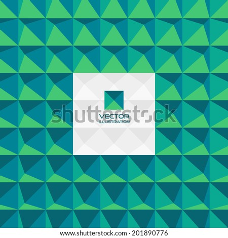 Abstract 3d geometric background. With place for text. Can be used for wallpaper, web banner or design element. - stock vector