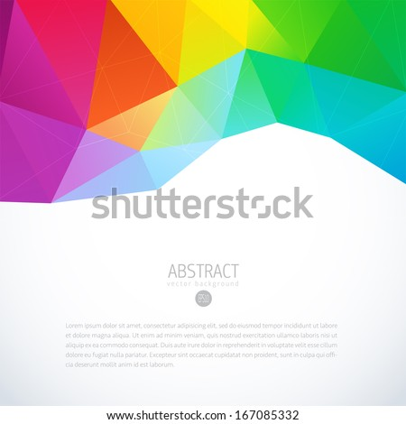 Abstract 3D geometric colorful background - stock vector