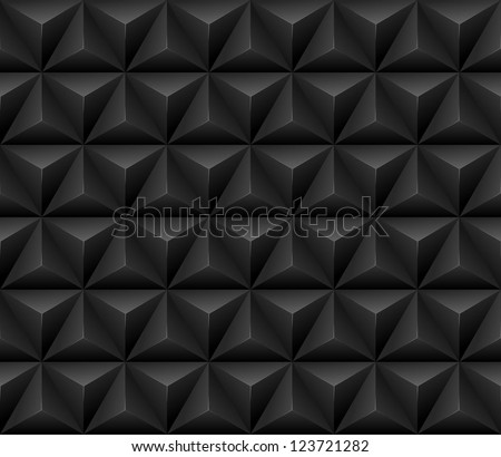 Abstract 3d geometric seamless pattern. vector illustration - stock vector