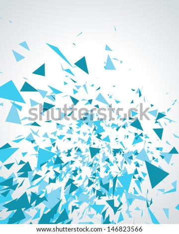 Abstract 3d geometric triangles modern vector background. - stock vector
