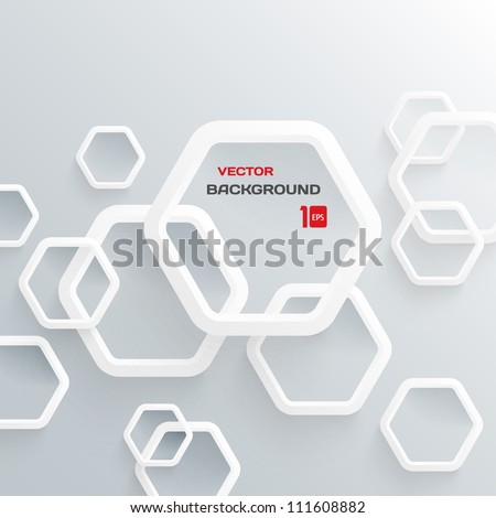 Abstract 3-D Geometrical Design - stock vector