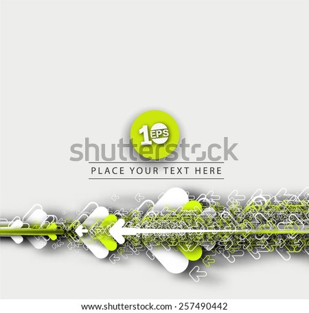 Abstract 3D Geometrical Design, eps10 vector - stock vector