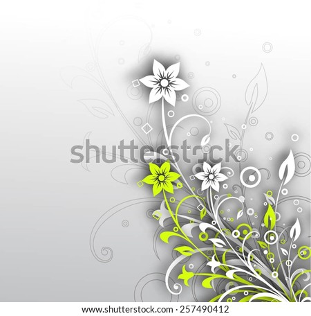 Abstract 3D Geometrical Floral Design Element. - stock vector