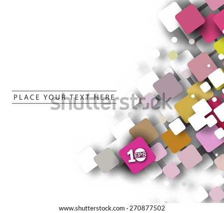 Abstract 3D Geometrical Mosiac Design, eps10 vector - stock vector