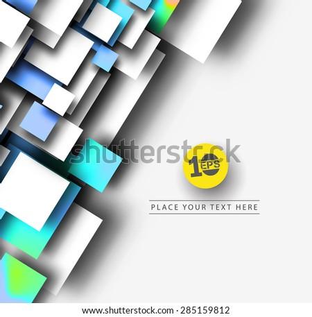 Abstract 3D Geometrical Mosiac Design, eps10 vector - stock vector