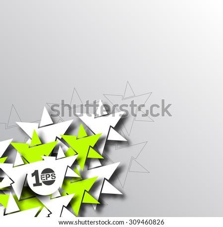 Abstract 3D Geometrical Star Design, eps10 vector - stock vector