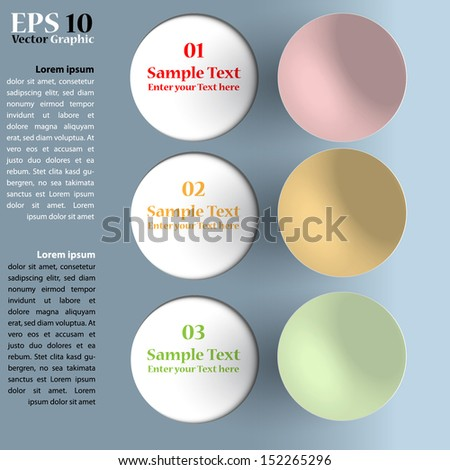 Abstract 3D Infographic - stock vector