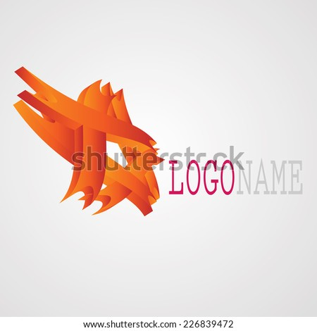 Abstract 3D Logo Design isolated on White Background