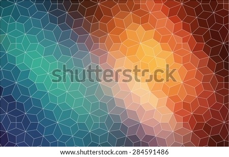 Abstract 2D mosaic colorful background for web - stock vector