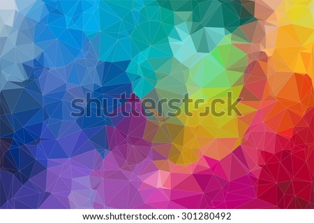 Abstract 2D mosaic triangle background for your design - stock vector