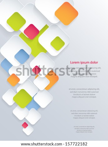 Abstract 3d paper design background. Vector eps10. - stock vector