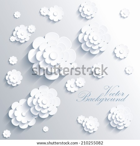 Abstract 3D Paper flower - stock vector