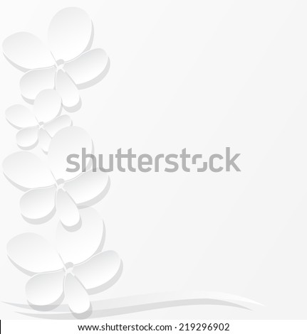 Abstract 3D paper flowers. Vector illustration. - stock vector
