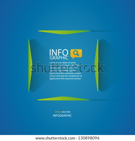 Abstract 3D Paper Infographics templete - stock vector