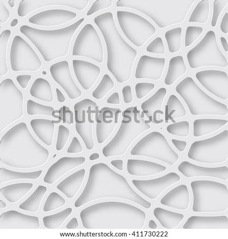 Abstract 3D Paper white background. Vector - stock vector