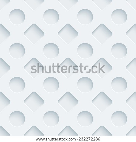 Abstract 3d seamless background. See others in a Perforated Paper Set. Vector EPS10. - stock vector