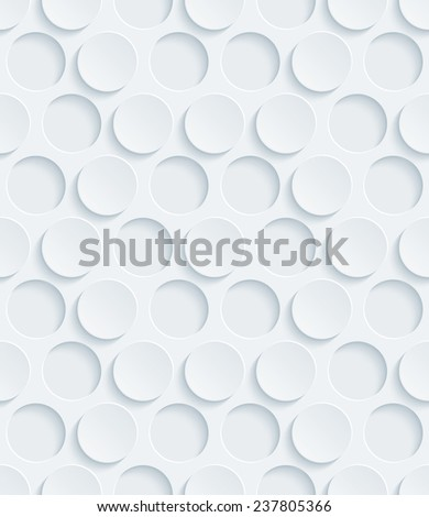 Abstract 3d seamless pattern. Editable vector EPS10. See others in my Perforated Paper Set.  - stock vector