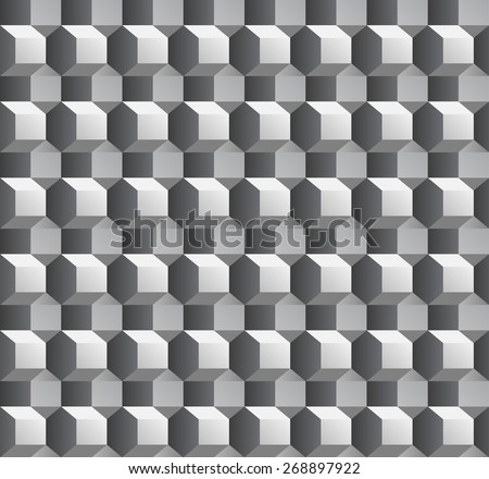 Abstract 3d seamless pattern with hexagon shapes - stock vector