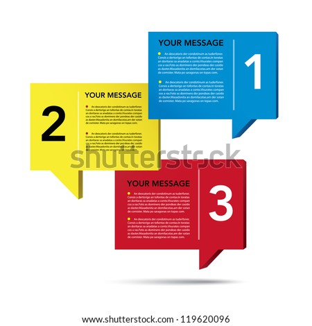Abstract 3D speech bubble background.eps10 - stock vector