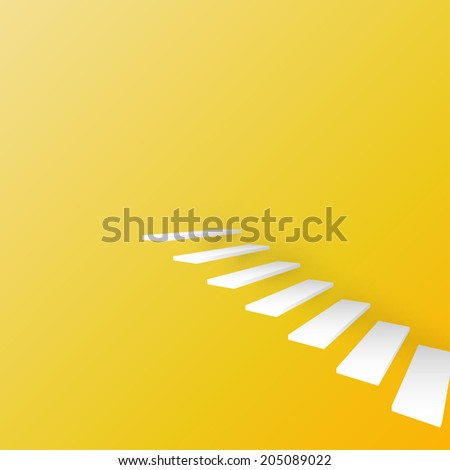 abstract 3d staircase background - stock vector