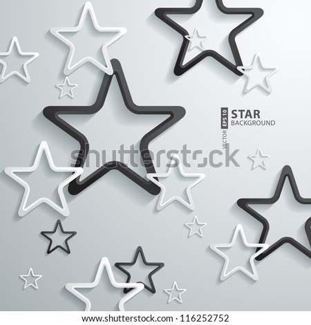 Abstract 3D Star Design