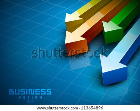 Abstract 3D statistics background, Business concept. EPS 10. - stock vector