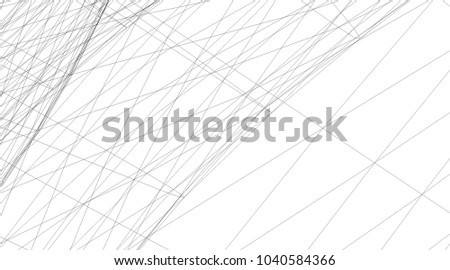 Abstract 3d structure. Geometric background