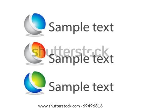 Abstract 3d vector icon - stock vector