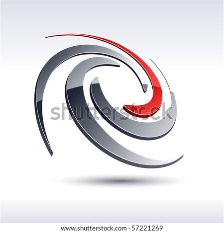 Abstract 3d vector icon such logos. - stock vector