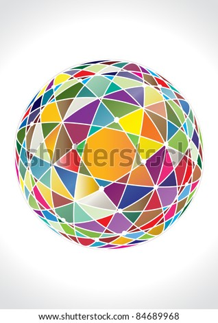 abstract 3d vector sphere - stock vector