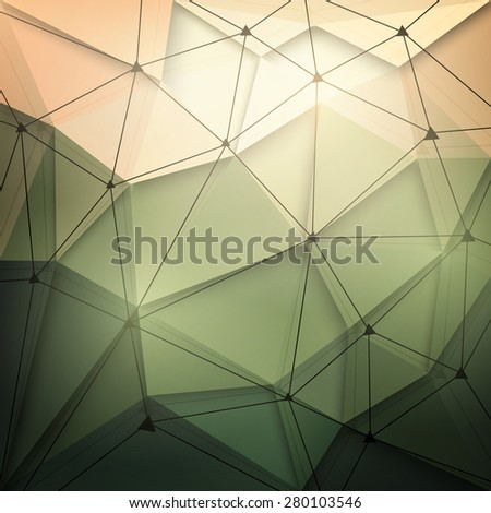 Abstract 3d vector technology background with wireframe structure. Vector digital background for web, applications, business. Abstract vector wallpaper. Science abstract vector background - stock vector