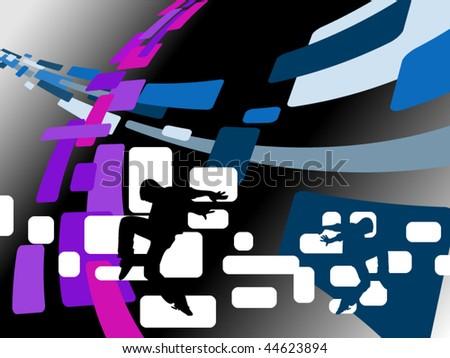 abstract dance vector - stock vector