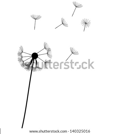 abstract dandelion background  vector illustration - stock vector