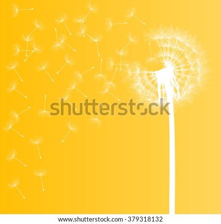 Abstract dandelion background vector illustration springtime concept - stock vector